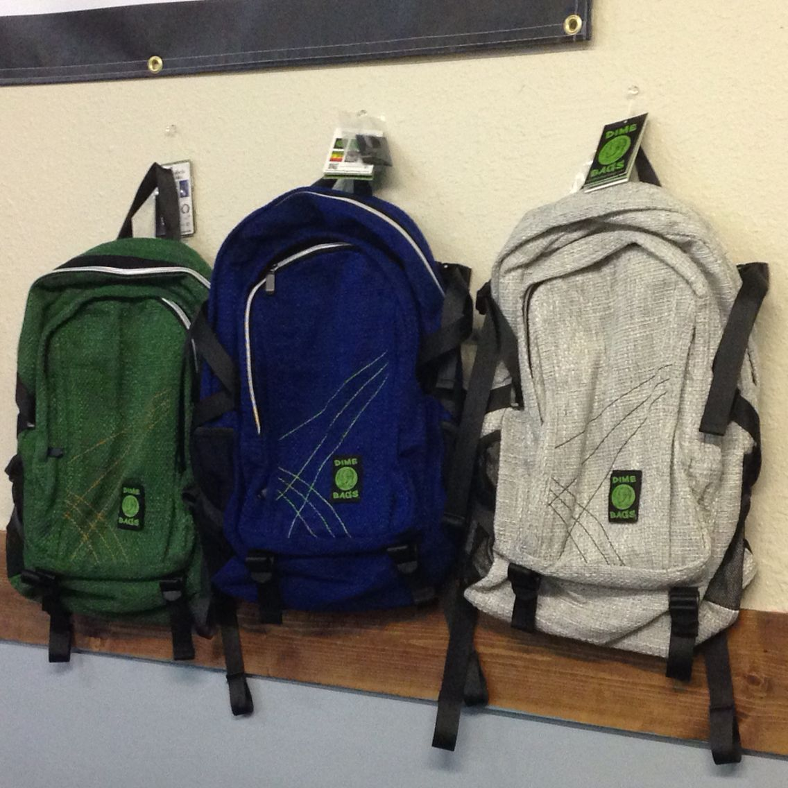 Dime Bags Storage Hemp Backpack Perfect For Adventuring And Carrying Your Glass Pieces