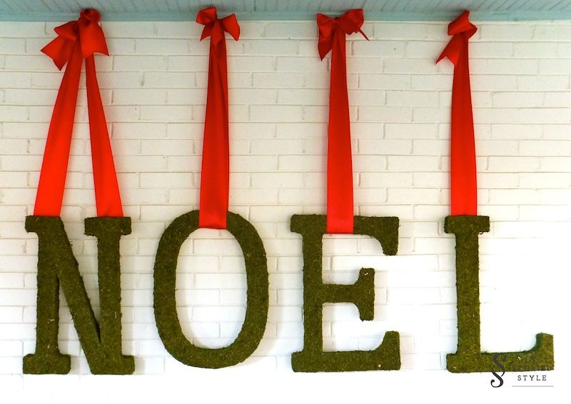 moss letters - definitely want to do this next year!