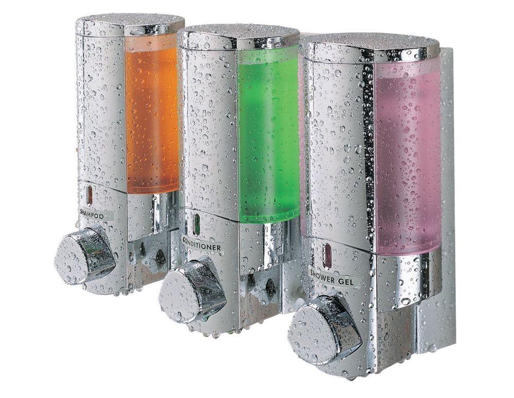 Shower Dispenser Bathroom Soap Liquid Shampoo Lotion Wall Mount 3