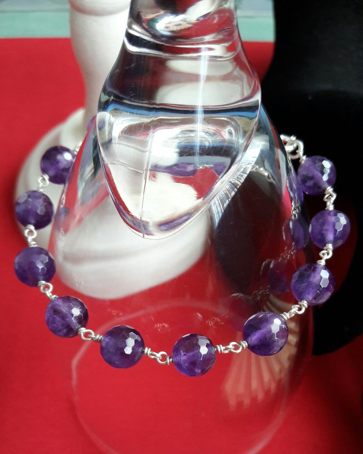 f6cc08e424cd Amethyst bracelet Imagenes De Joyas