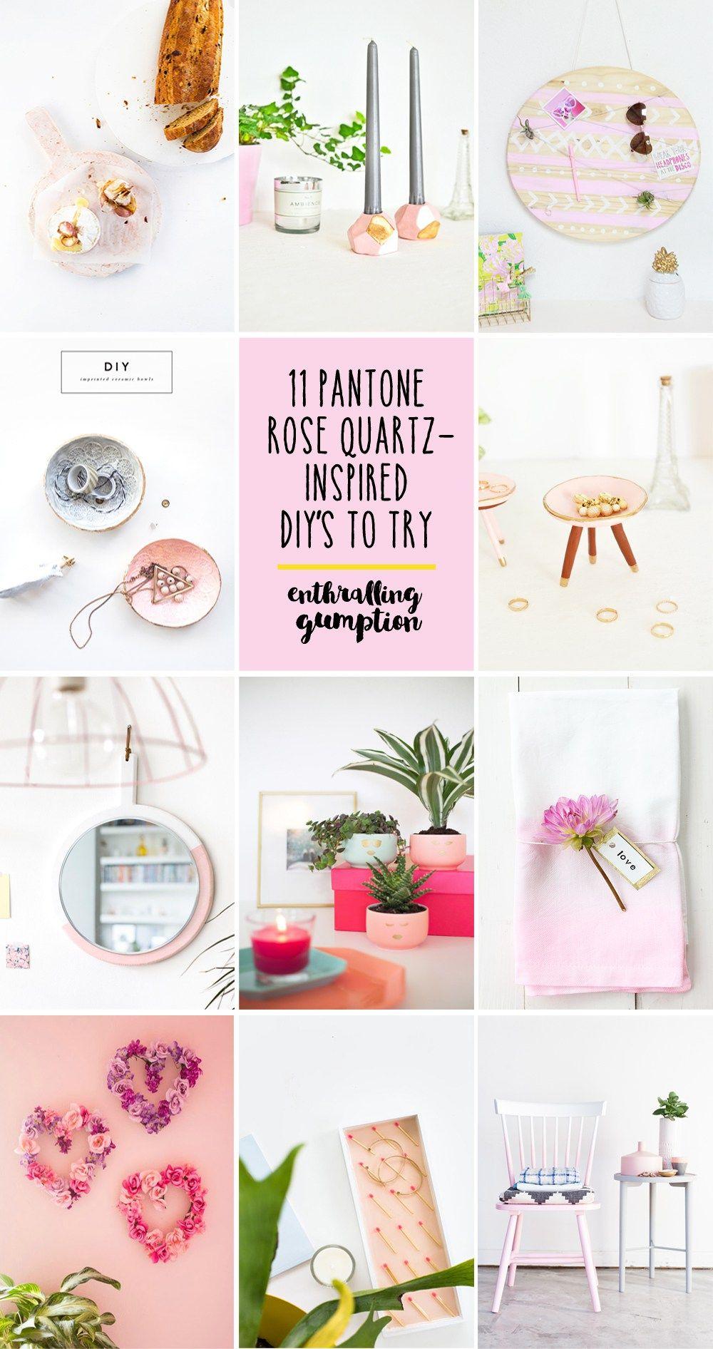 Pantone Rose Quartz-inspired DIY's to try