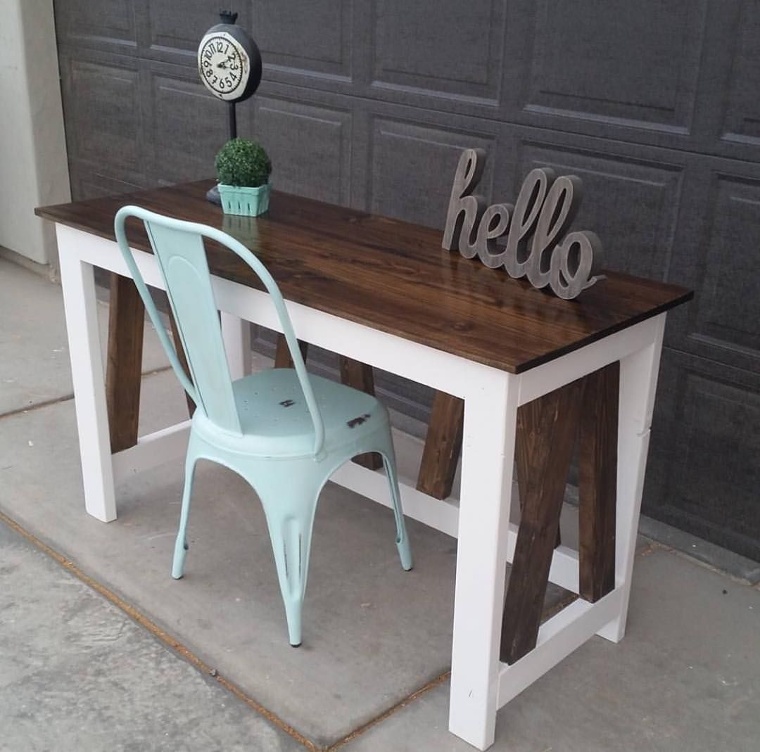 Easy Diy Desk Ideas: €�How Cute Is This Desk That @sawdustcreators Built Using