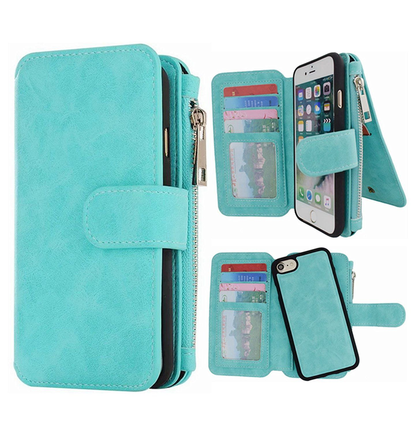 f102083709ef iPhone 8 Wallet case, iPhone 7 Leather Case,Hynice Detachable ...