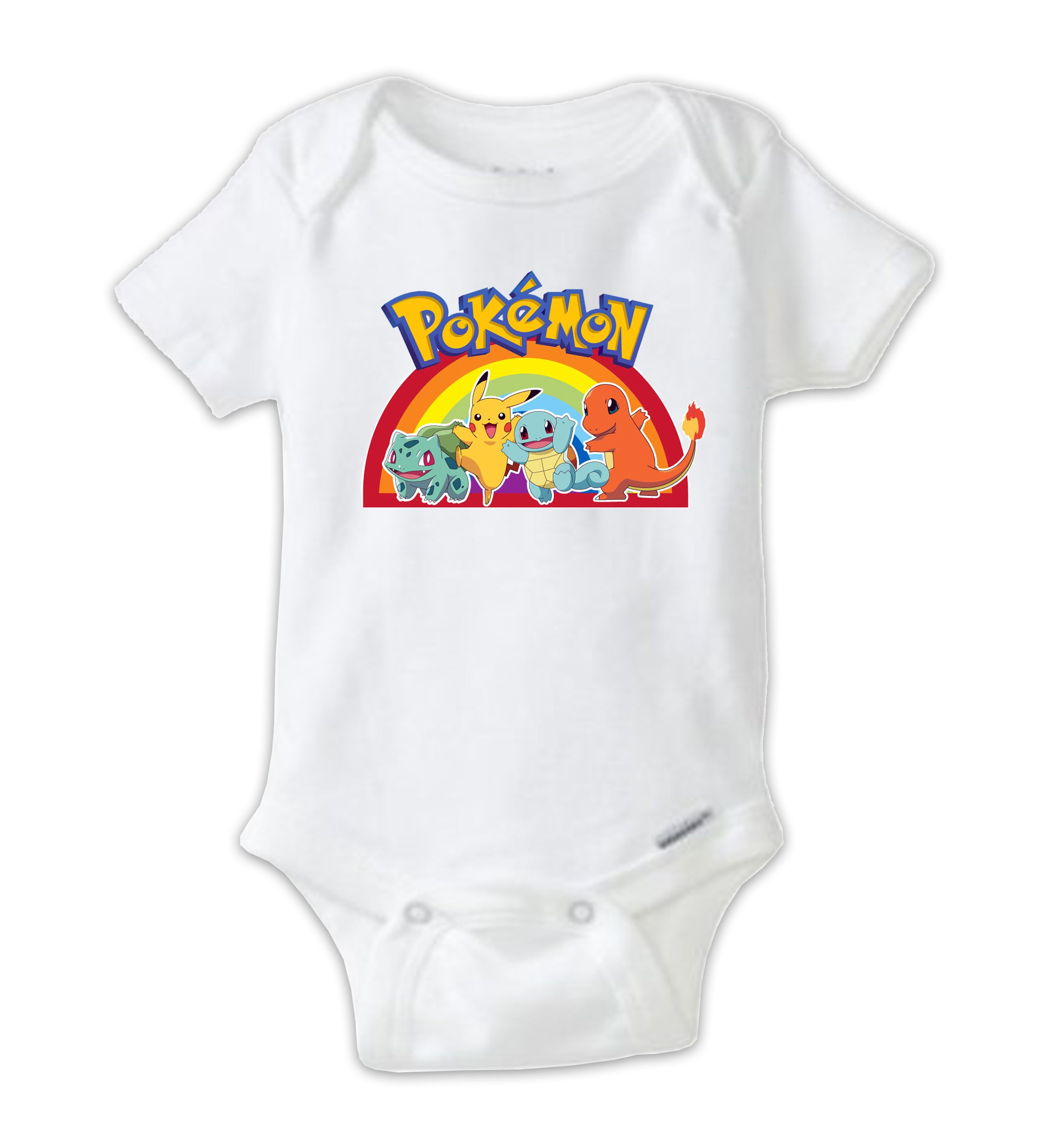 Rainbow pokemon baby onesie pokemon bodysuit pokemon go shirt unique and funny baby onesies for any occasion great baby shower gifts and christmas gifts personalized baby bodysuits also available negle Choice Image