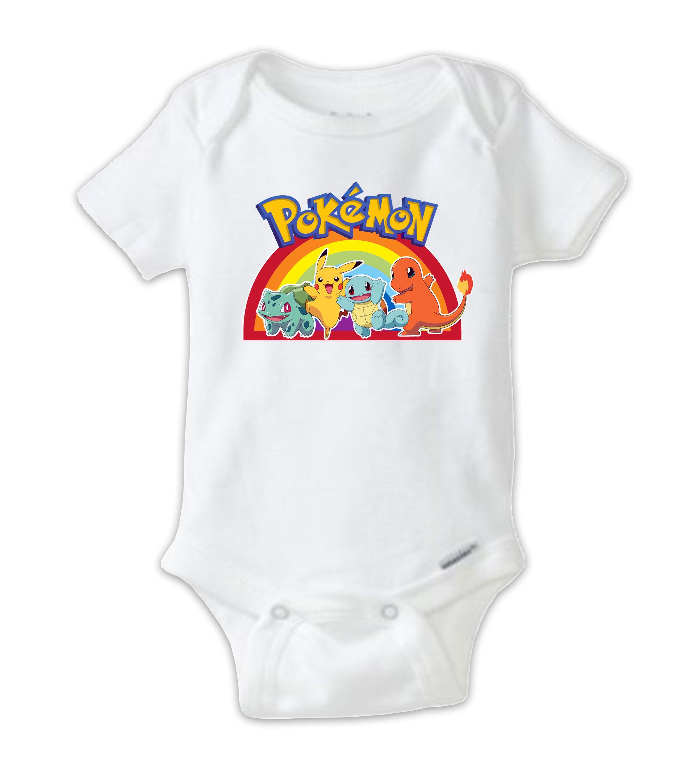 99c5c755 Rainbow POKEMON Baby Onesie, Pokemon Bodysuit, Pokemon Go Shirt, Baby Shower