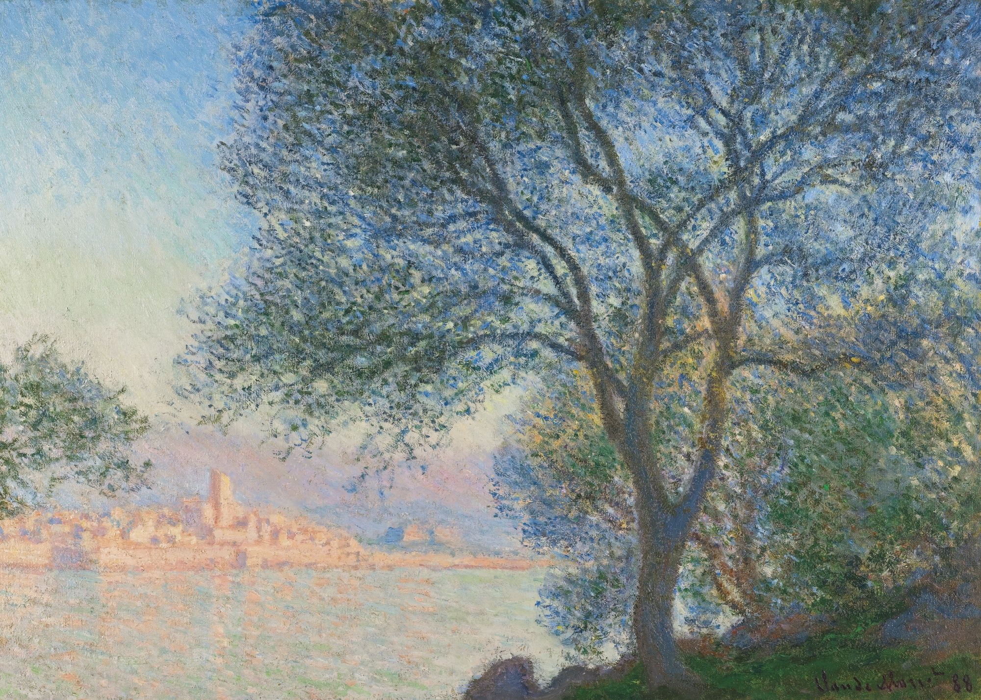 Claude Monet (1840 - 1926), Antibes vue de la Salis, signed Claude Monet and dated 88 (lower right), oil on canvas, 65.5 by 91cm. 25 3/4 by 35 7/8 in. Painted in 1888