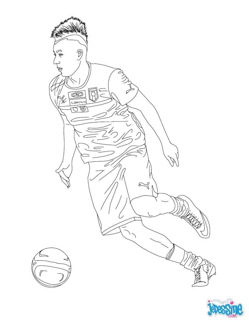 Coloriage du joueur de foot stephan el shaarawy - Coloriage de messi ...