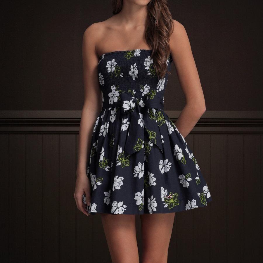 euc hollister navy hibiscus flower sundress dress girls