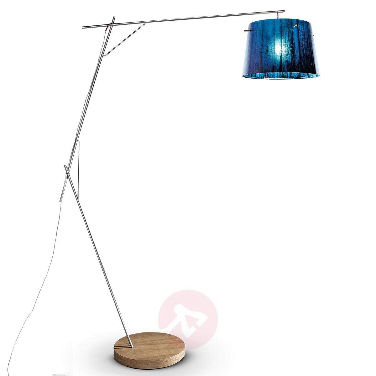 Kunsztowna Lampa Stojąca Woody Niebieska In 2019 Lampy