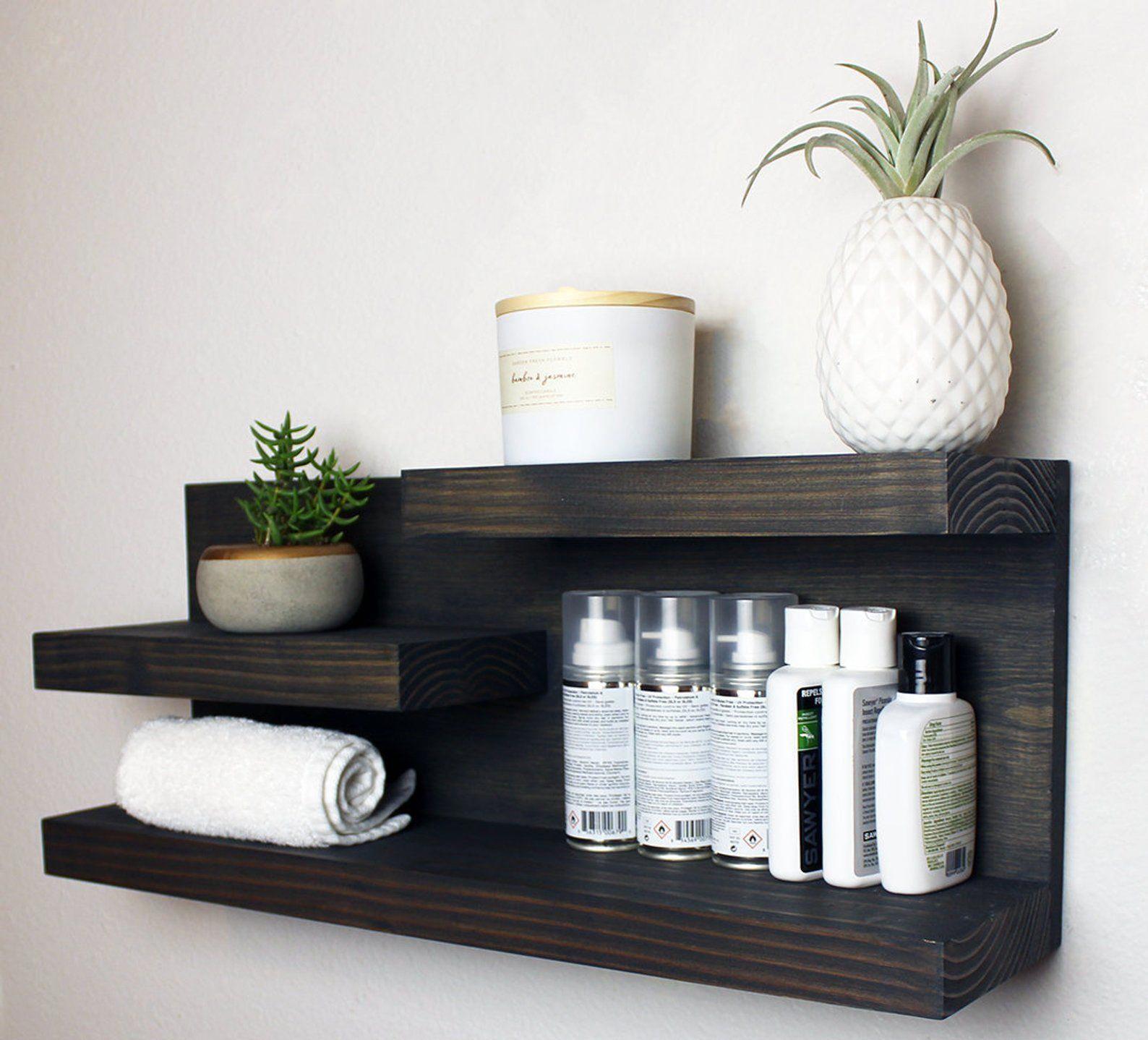 Bathroom Shelf Storage Organizer Farmhouse Country Rustic   Etsy