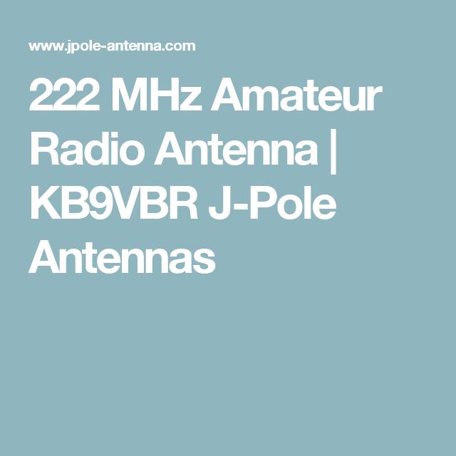 222 MHz Amateur Radio Antenna | HAM | Ham radio, Ham