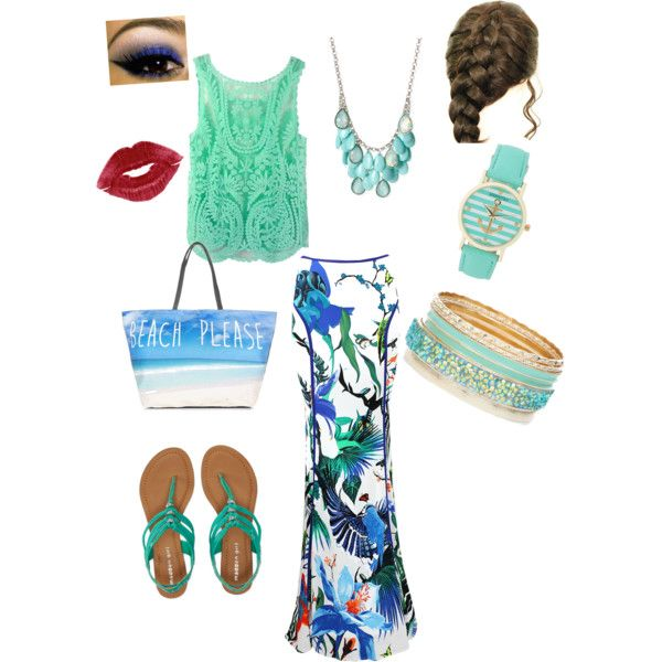 Beach wear by alexzach on Polyvore featuring polyvore, fashion, style, Roberto Cavalli, Aéropostale and Haskell