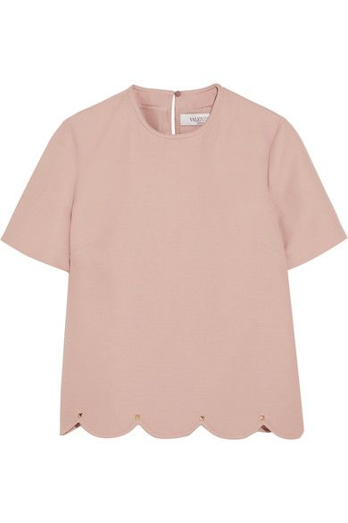 Sale Pictures Order Sale Online Embellished Wool And Silk-blend Crepe Top - Pastel pink Valentino Sale 2018 New S4upCzMAGI