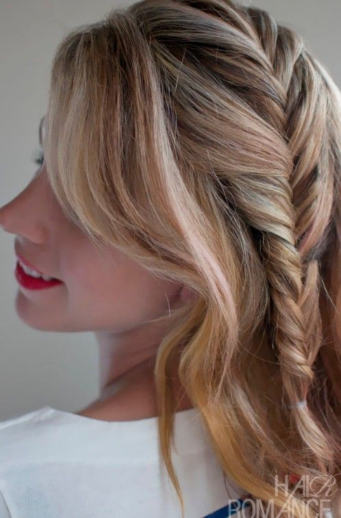Romantic French Fishtail Side Braid Hairstyle For Womenlove
