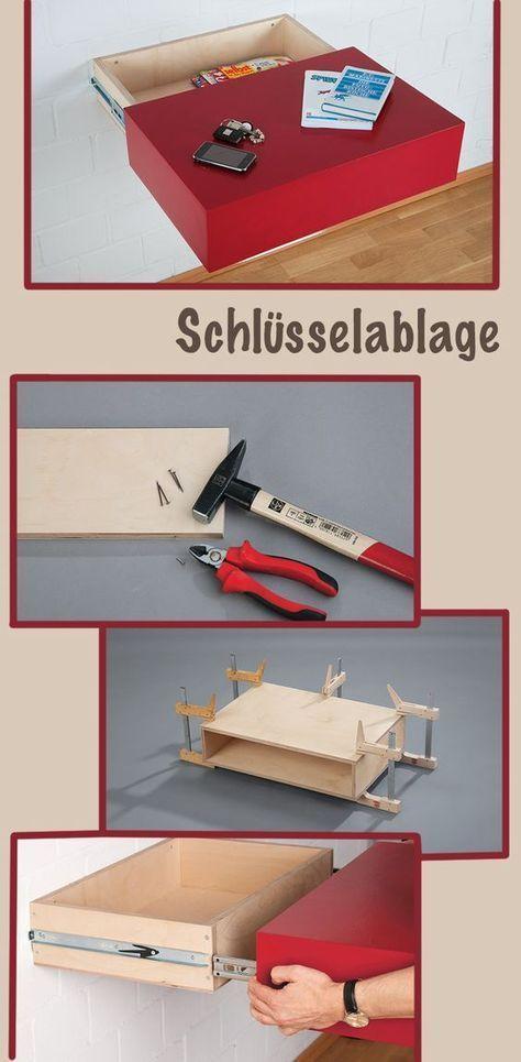 schl sselablage selber machen schublade bauen. Black Bedroom Furniture Sets. Home Design Ideas