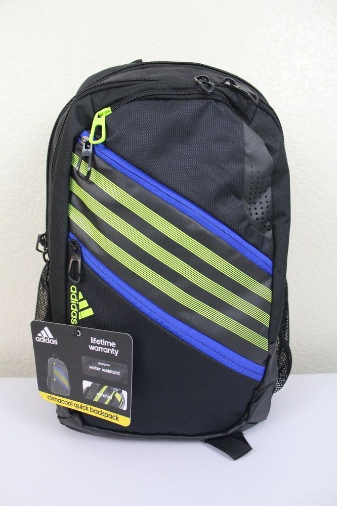 327005b1e04e adidas climacool quick backpack laptop storage media pocket water resistant   adidas  Backpack  climacool