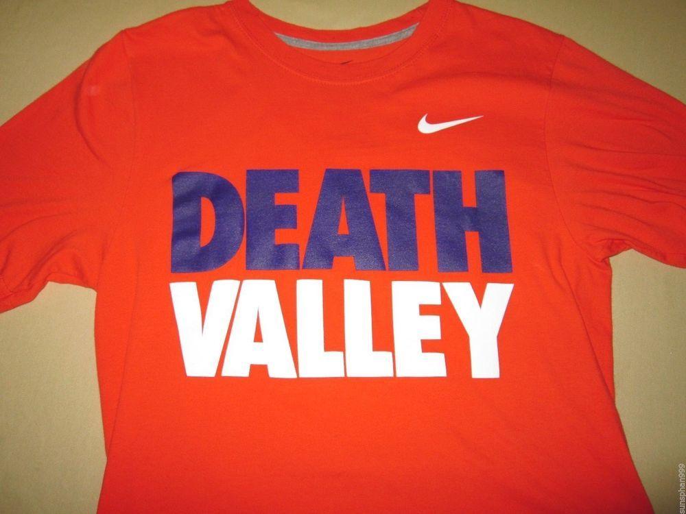 4c206f2b Clemson Tigers FOOTBALL NCAA T Shirt , S Small , Orange , Nike , DEATH  VALLEY Nike ClemsonTigers ...