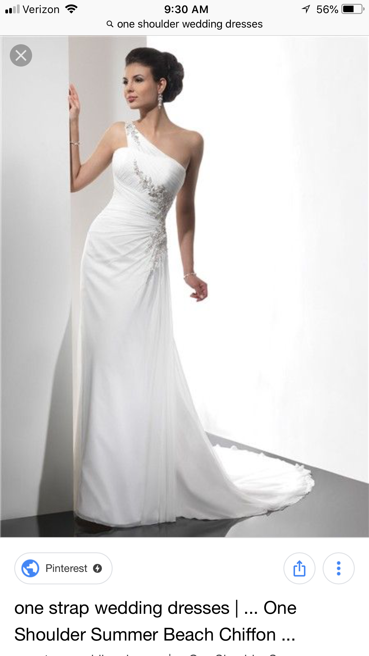 One strap wedding dress  Pin by Victoria Alley on cAlleybrese Wedding Planning  Pinterest