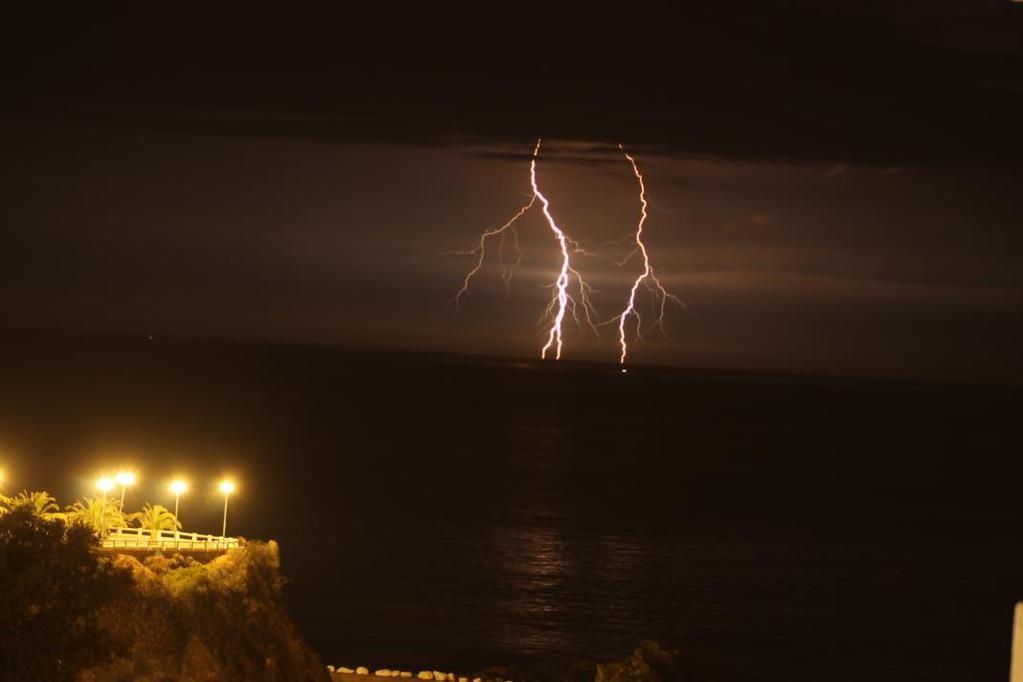 Tormenta eléctrica desde Playa Ancha, Valparaiso.