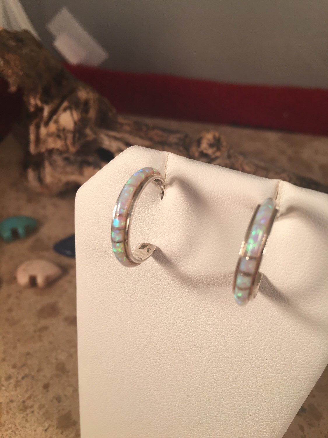 A personal favorite from my Etsy shop https://www.etsy.com/listing/265890386/sterling-silver-multi-stone-hoop