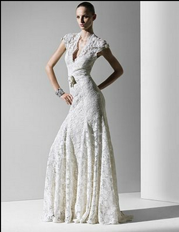 Elegant Vintage Mexican Wedding dress