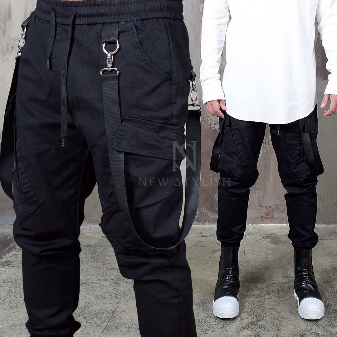 b46bfd011ee5e8 ☆SOLD-OUT☆ Webbing suspender attached bending jogger pants - 167 ...