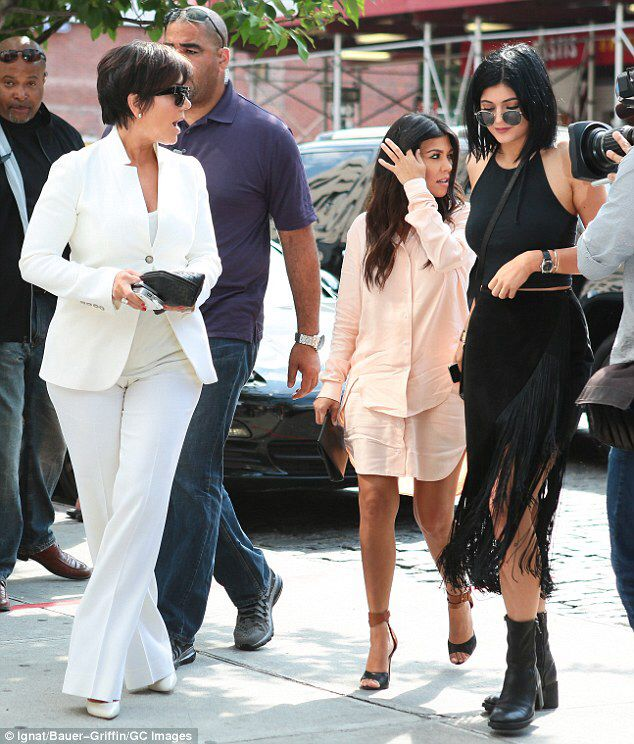 Pregnant Kourtney Kardashian Covers Up Her Growing Baby Bump In