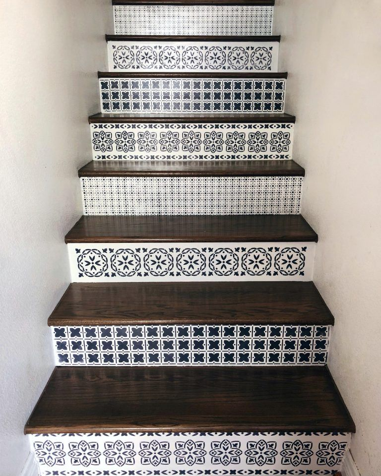 How To Update Wood Stairs With Chalk Paint