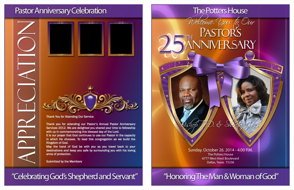 Divine Pastor And Wife Anniversary Program Kingdomprogramscom