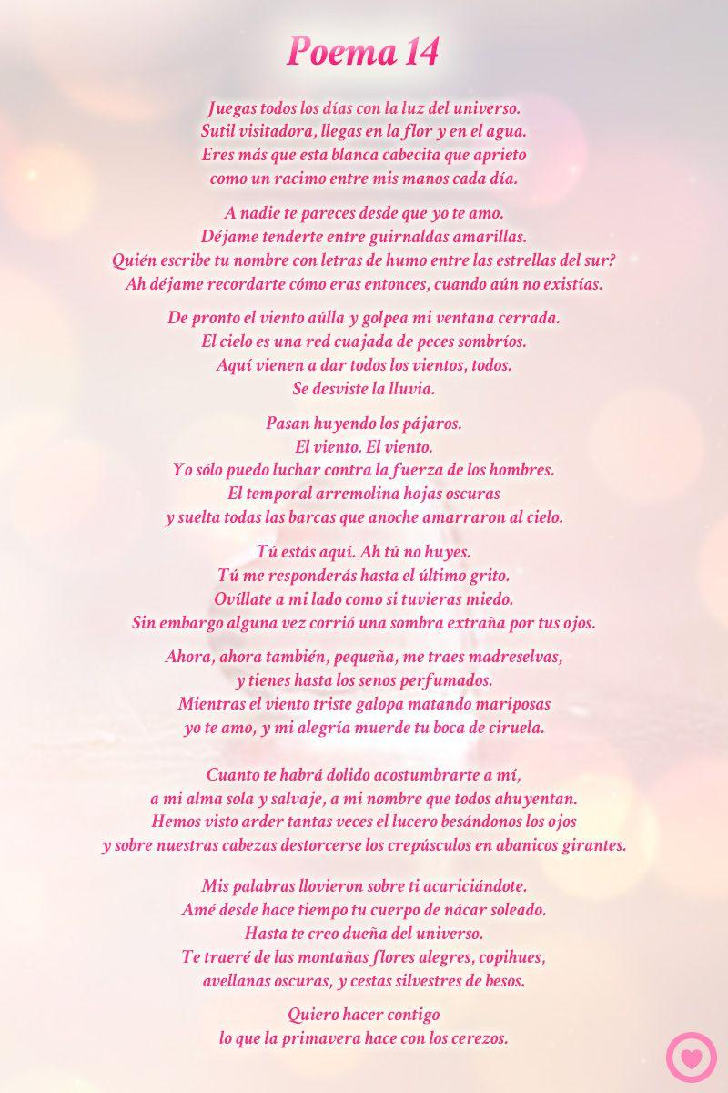 Poema 14 Pablo Neruda Poemas De Amor Poemas Poemas Inspiradores