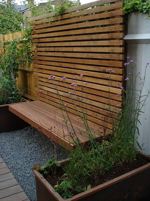 Gedeckter Weg Garten #sichtschutzterasse