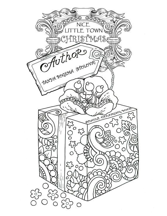 Nice Little Town Christmas Adult Coloring Book Printable Coloring