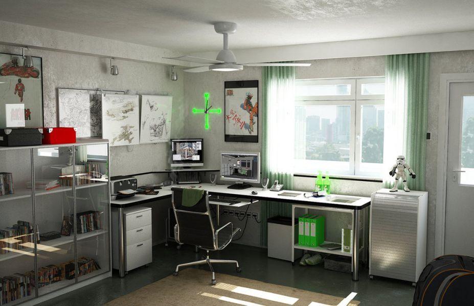Modern Home Study Room