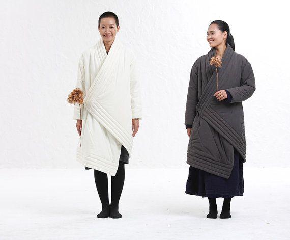 irregular cotton padded coat by BonLife