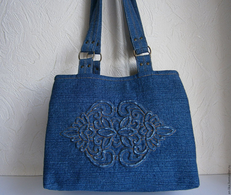 cb80f5b2173c Женские сумки ручной работы. Ярмарка Мастеров - ручная работа. Купить Сумка  джинсовая ИНДИГО. Handmade. Сумка на каждый день
