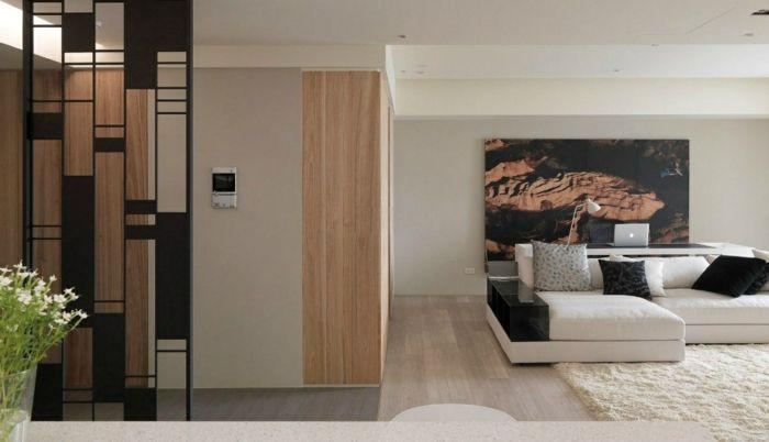 wandgestaltung ideen wohnzimmer wanddeko wandbild Wandgestaltung - moderne tapeten fürs wohnzimmer