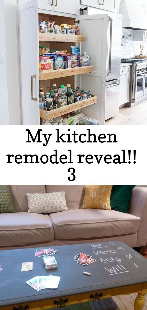 My kitchen remodel reveal!! 3 #largepantryideas A large pantry was a must-have for my kitchen remodel! LOVE my new tall & deep pantry with pull out shelves - so much storage space! #pantry #kitchenreno #kitchendesign #kitchenideas #cabinets 16 Super Fun Furniture Ideas for Game Room | Futurist Architecture #largepantryideas