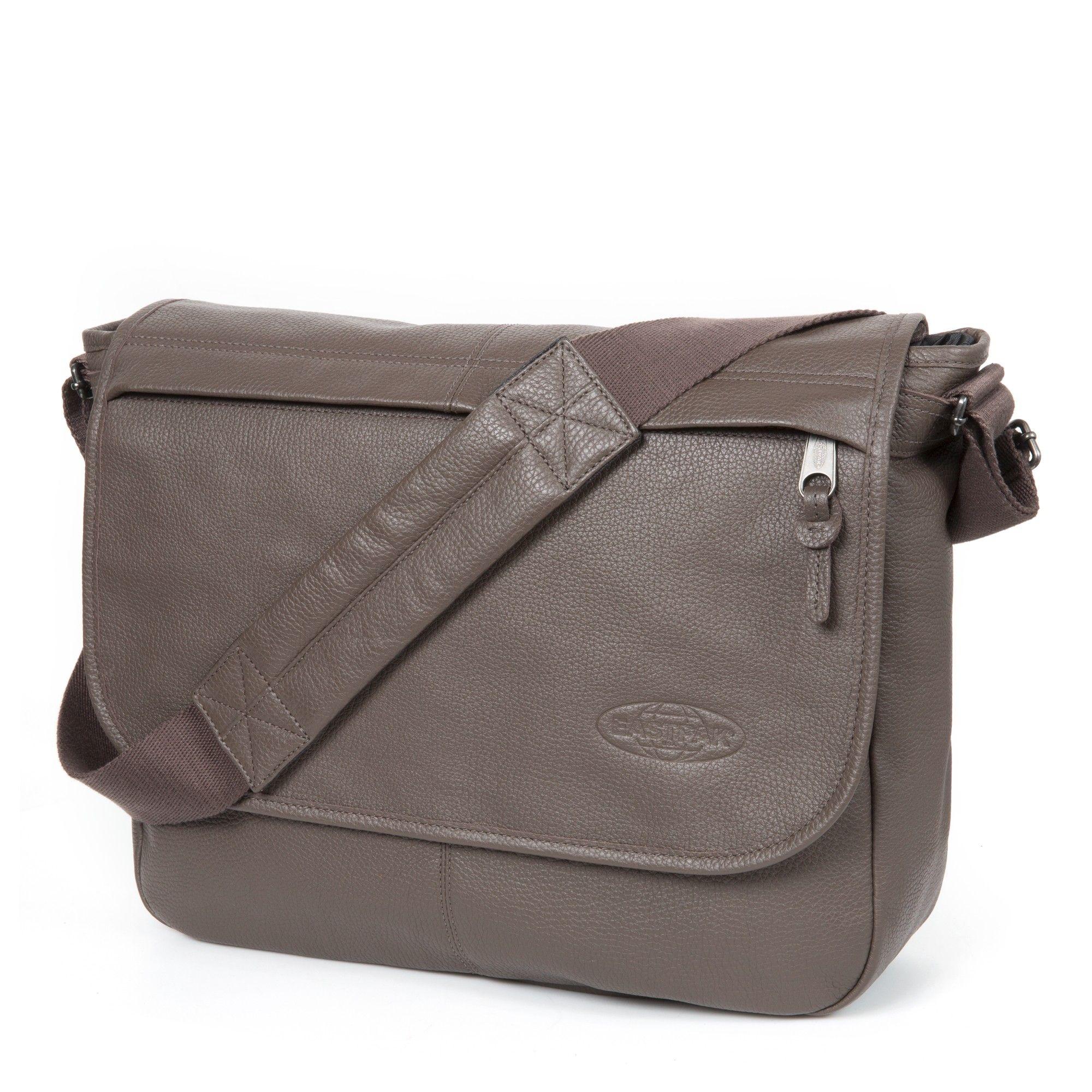 Sac besace Eastpak Delegate Leather en cuir Brown Pebble marron EcpCBLYmL