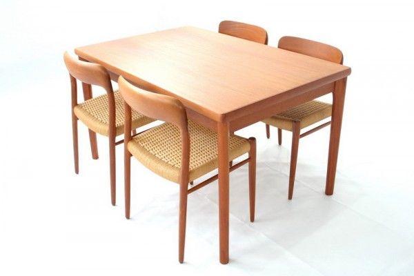 Teak Extendable Dining Table From Am Denmark 01 Extendable