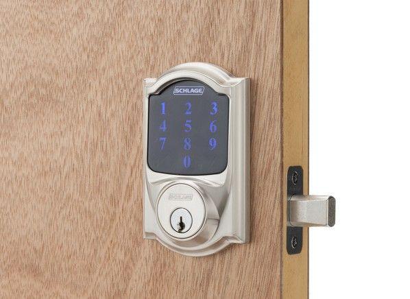 Door Locks Camelot Touchscreen Deadbolt With Alarm Be469nx Cam 619 Schlage 0 Schlage Deadbolt High Tech Gifts