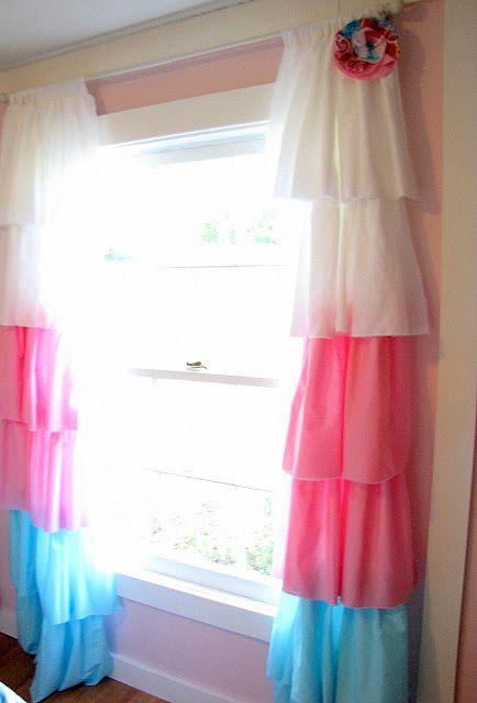 diy curtains cute for a little girl s room matches brylees rh pinterest com