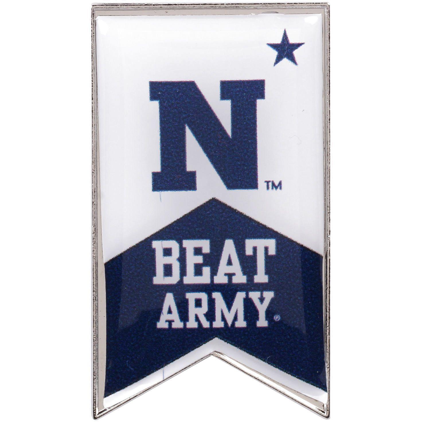 Navy Midshipmen Beat Army Rivalry Banner Pin - $5.59