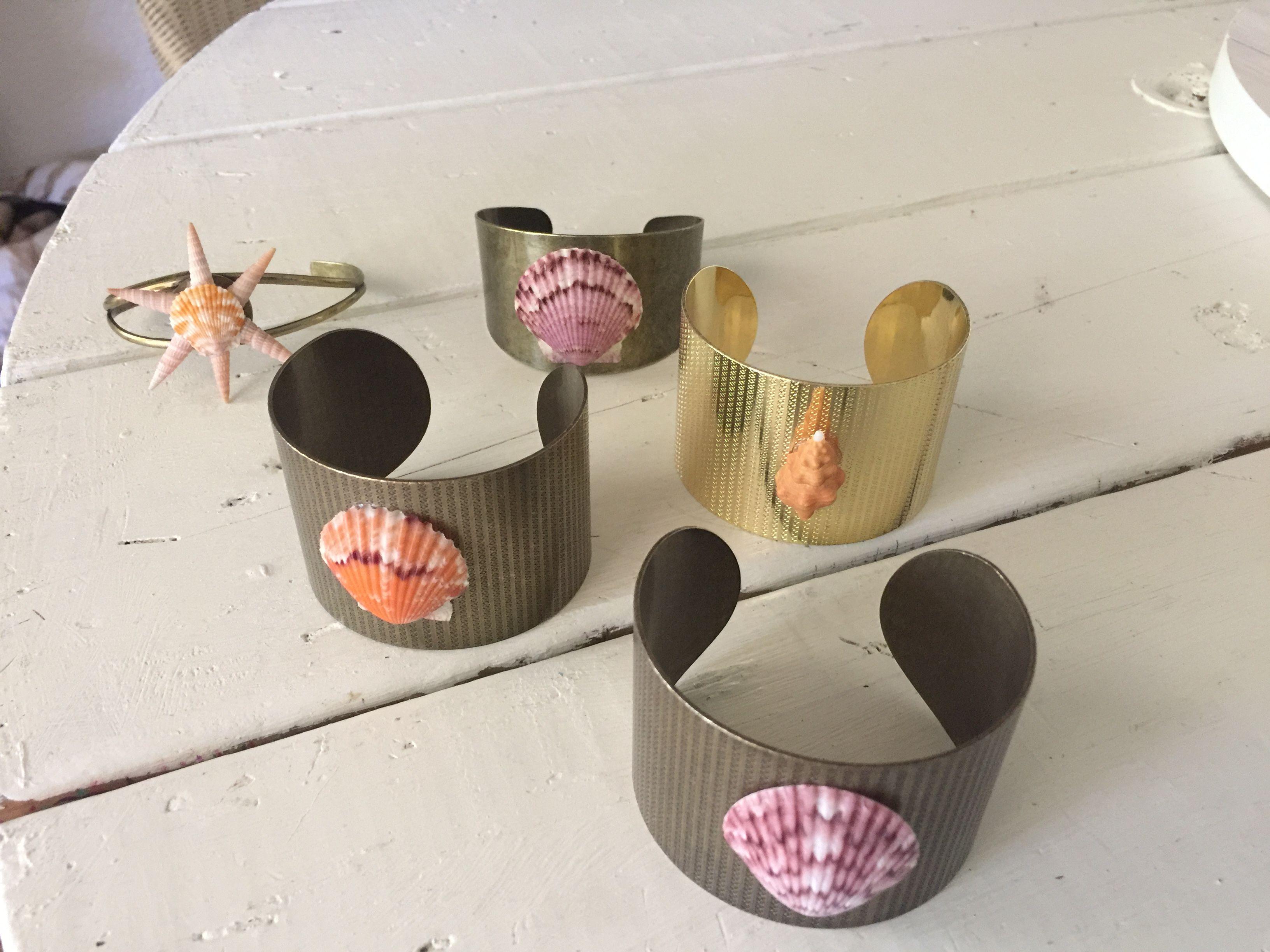 Seashell cuffs. Available on my etsy @CoastalCreations954 Mermaid accessories