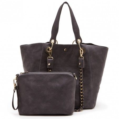 Grey Slouchy Vegan Tote | Ramsey | Free Shipping on Orders $50+