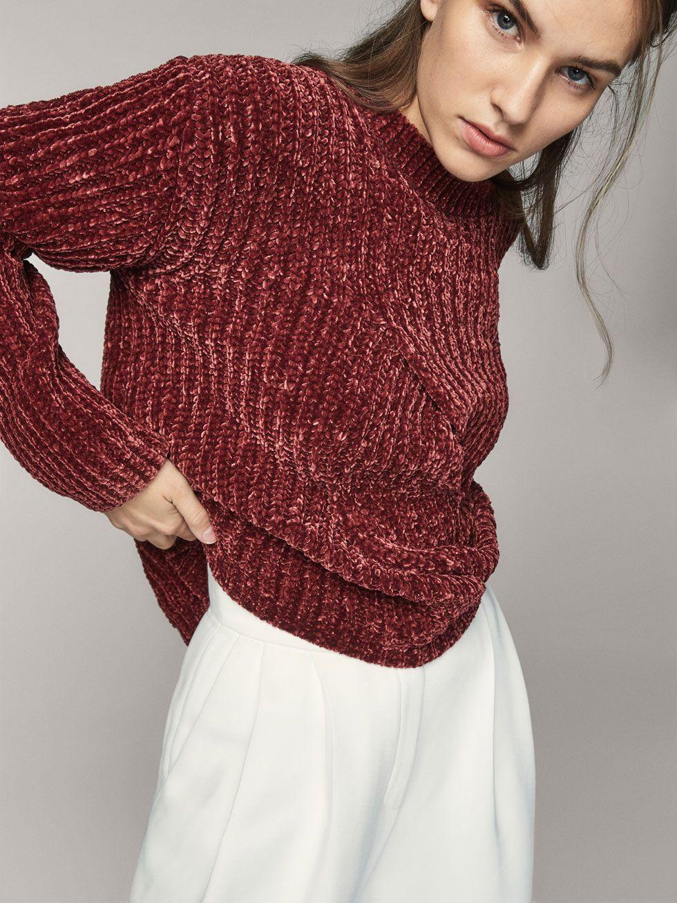 Resultado de imagen de jersey chenilla rojo con pantalones