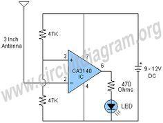 a15c04da3b91b06195a12d5e5ba20464 electric field detector circuit diagram electr�nica pinterest live wire detector circuit diagram at downloadfilm.co