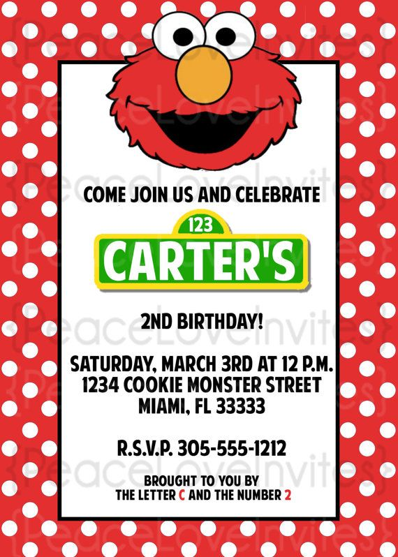 Elmo Party Invitations