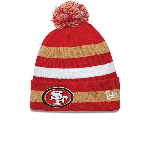 Men's San Francisco 49ers New Era Black/Scarlet 2-Tone Cuffed Knit Hat
