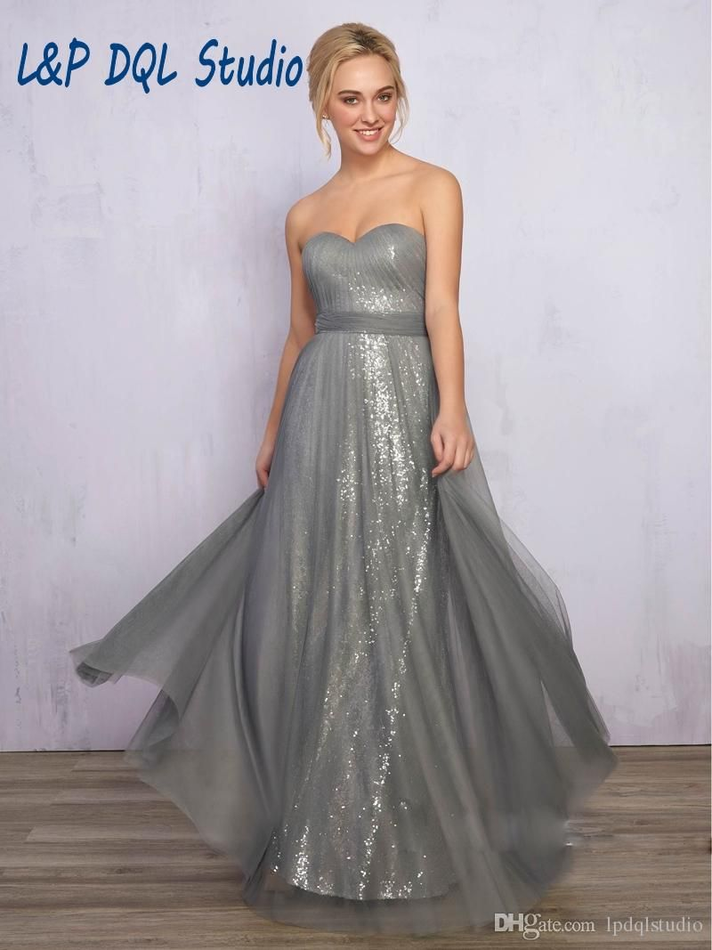 Tulle over sequins bridesmaid dresses long wedding party dresses tulle over sequins bridesmaid dresses long wedding party dresses 2017 new arrival sweetheart sleeveless zipper back bridesmaid gowns cheap ombrellifo Gallery
