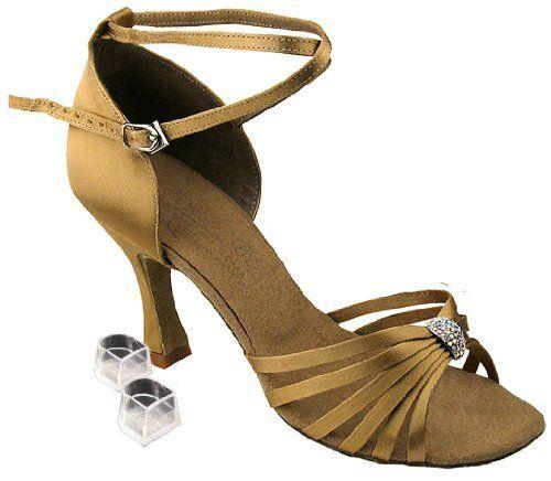 Very Fine Women's Salsa Ballroom Tango Latin Dance Shoes Style S92311 Bundle with Plastic Dance Shoe Heel Protectors, Tan, Heel 3 Inch Very Fine Dance Shoes. $71.99